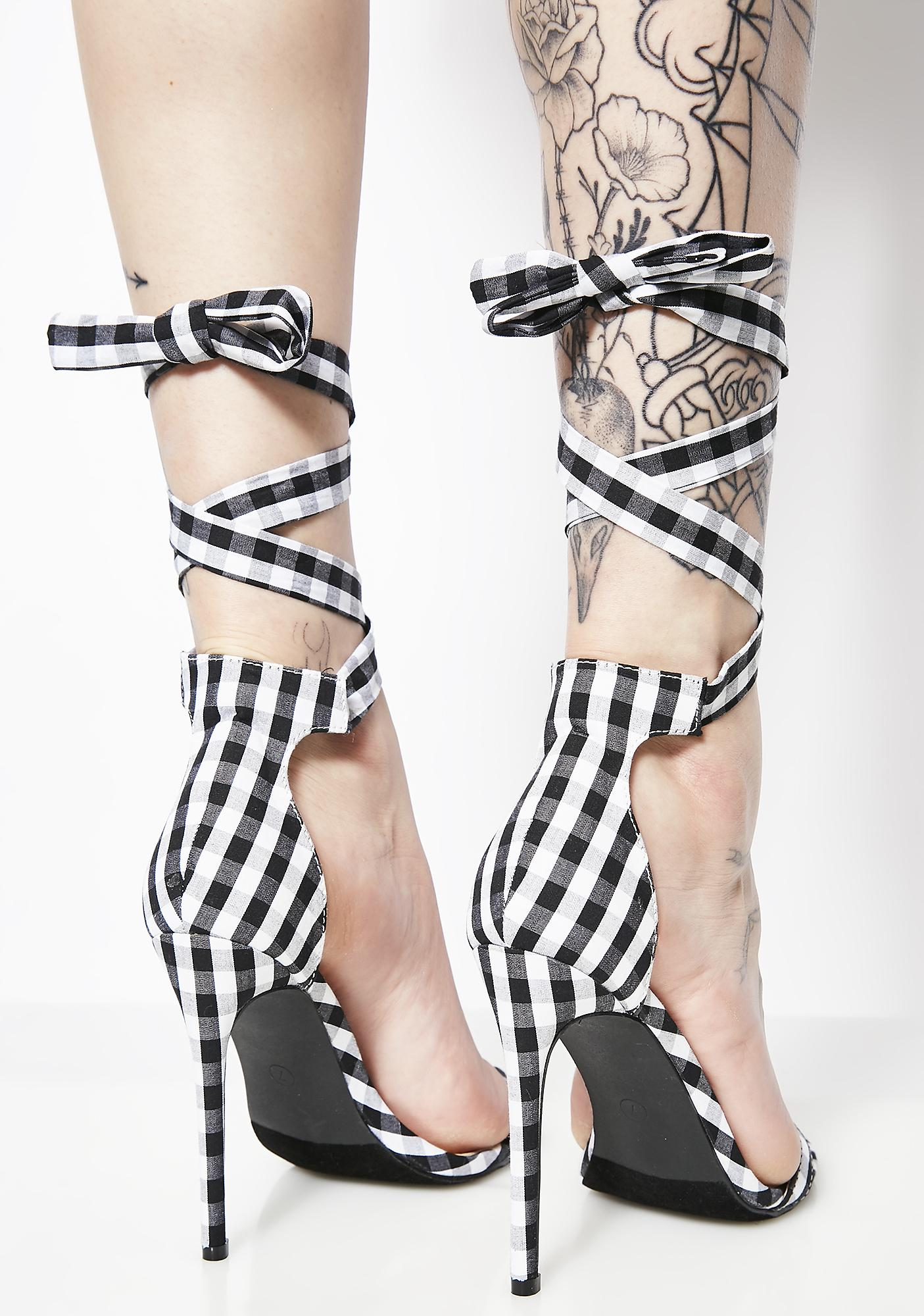 Night Badly Behaved Gingham Heels
