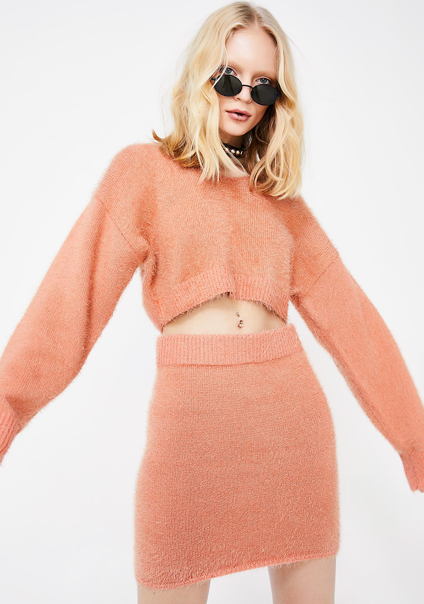 As If Fuzzy Sweater Set
