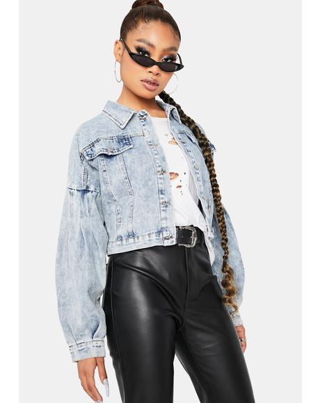 Criminal Desire Cropped Denim Jacket
