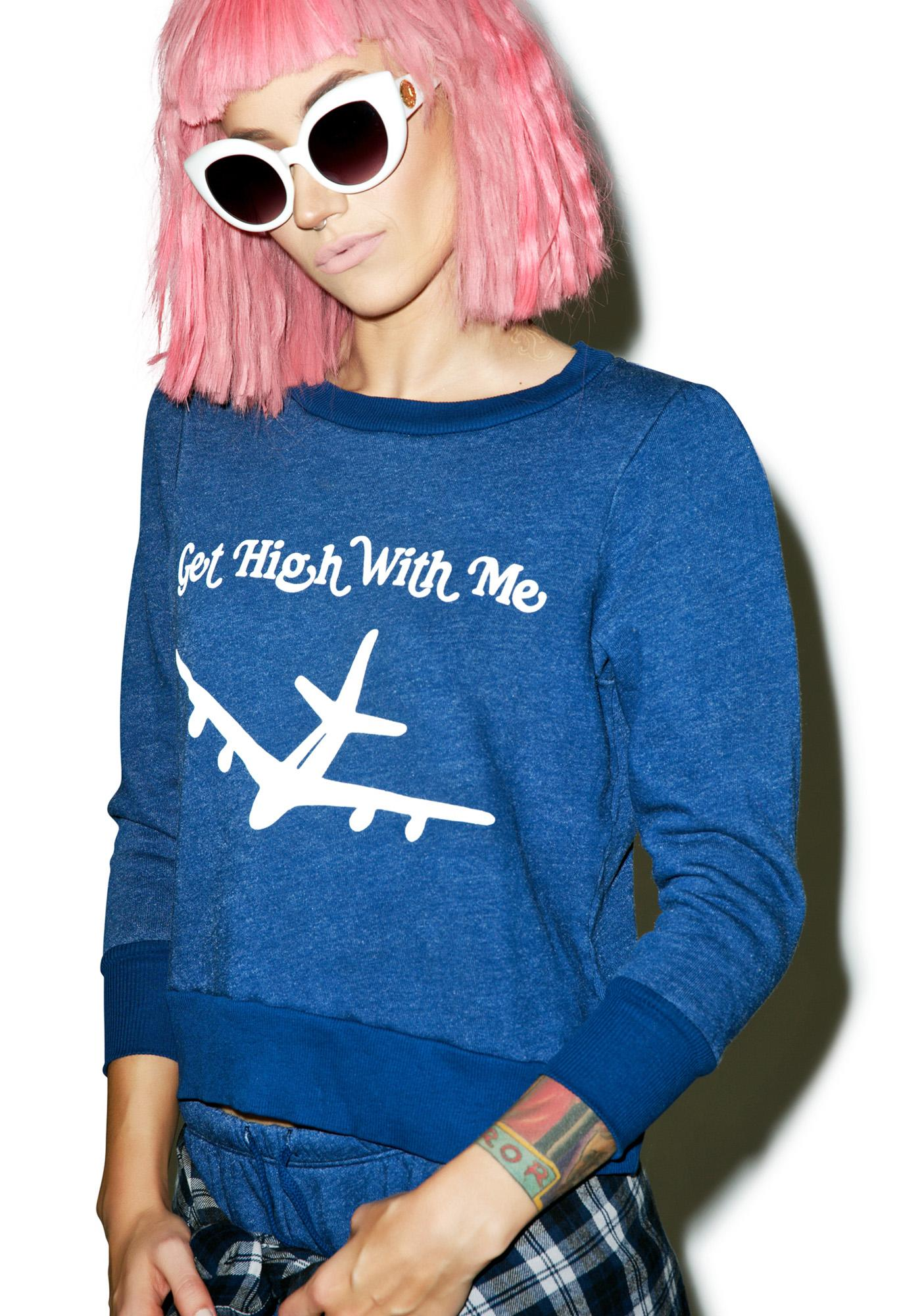 Wildfox Couture Get High With Me Couch Princess Sweater