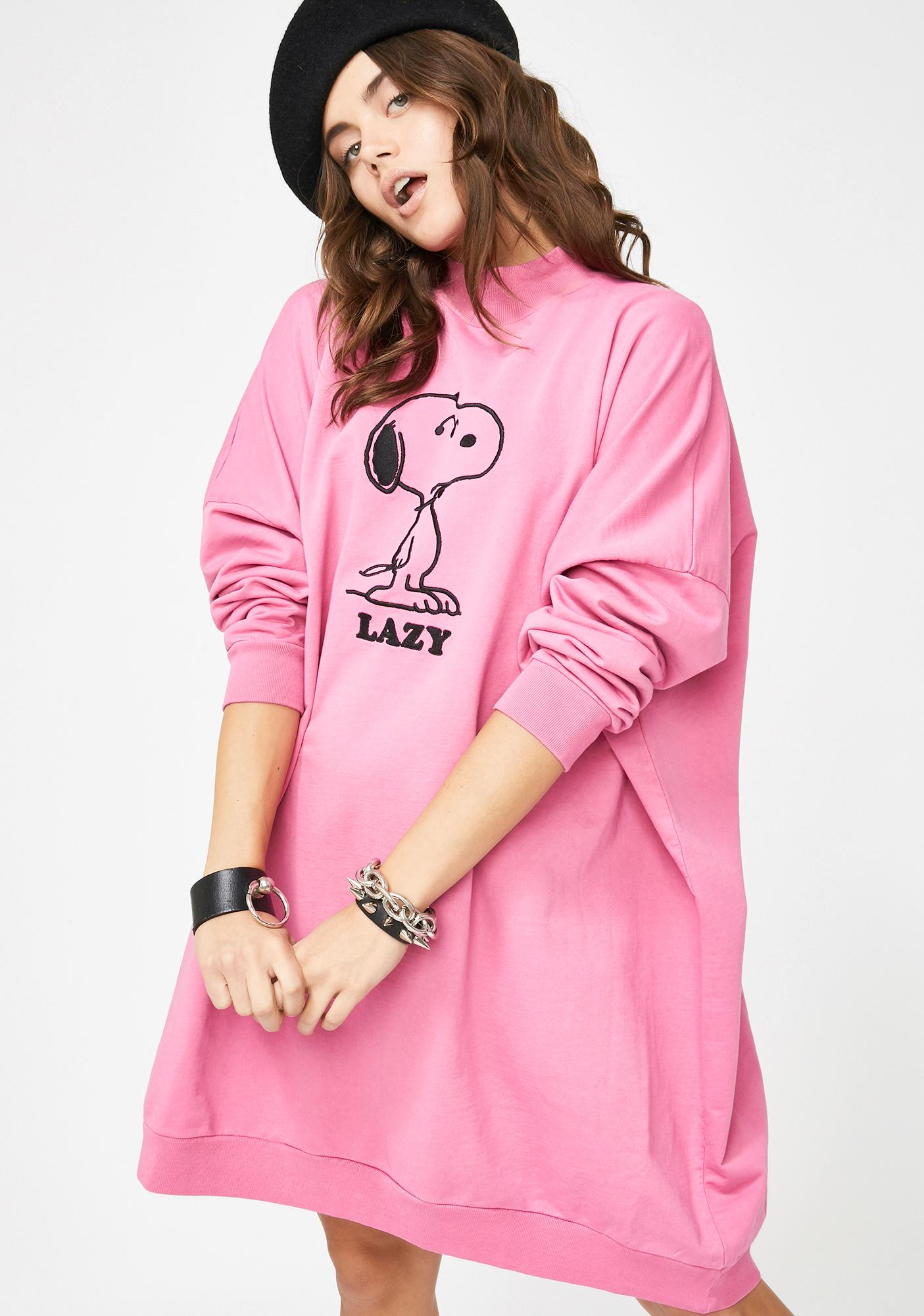Lazy Oaf X Peanuts Sweater Dress