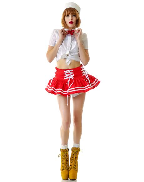 Motley Nautical Sailor Mini Skirt