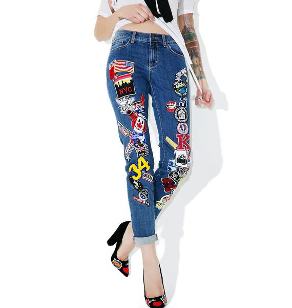 Piece Of Work Patched Jeans