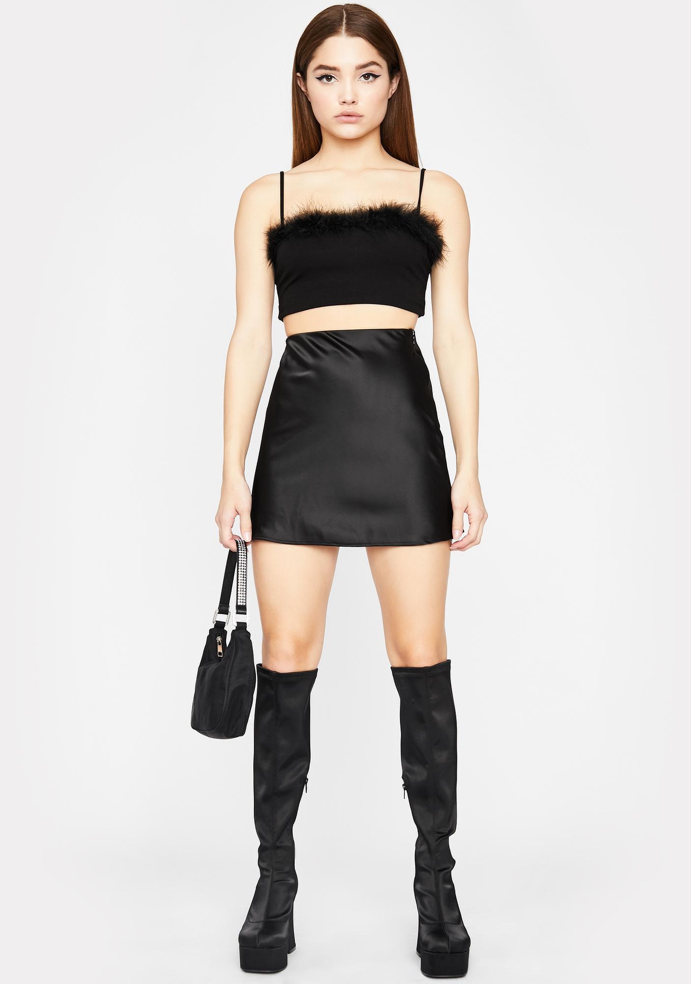 Wicked Selfie In Hell Satin Skirt