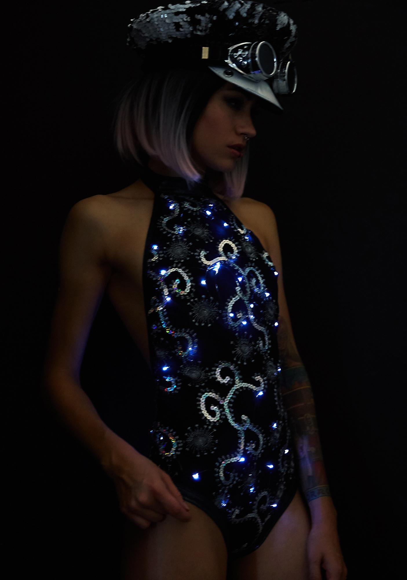 J Valentine Storm Light-Up Sequin Bodysuit