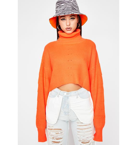Juicy Come N' Entertain Crop Sweater