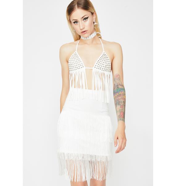 Icy Shake It Up Fringe Skirt