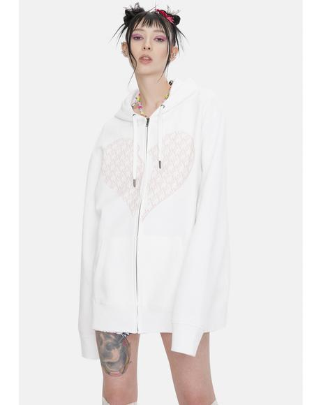 Toxic Oversize Cotton Zip Up Hoodie