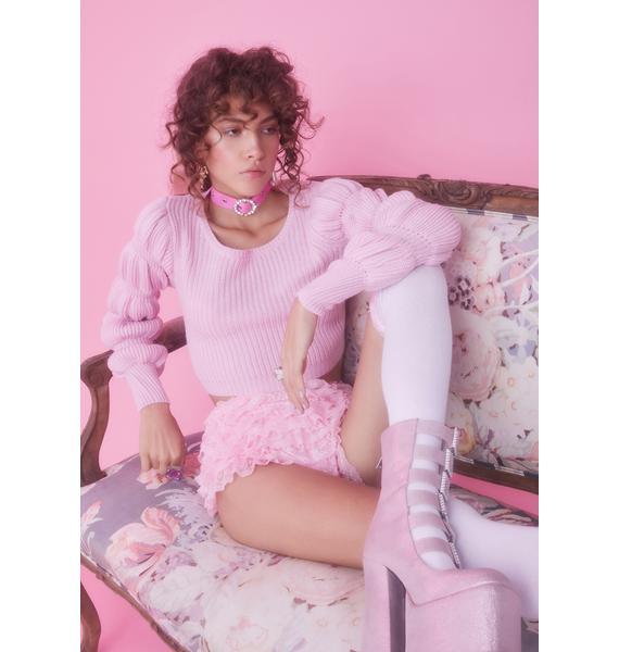 Sugar Thrillz Miss Charming Knit Sweater