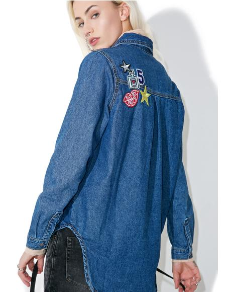 Miss Patched Denim Shirt