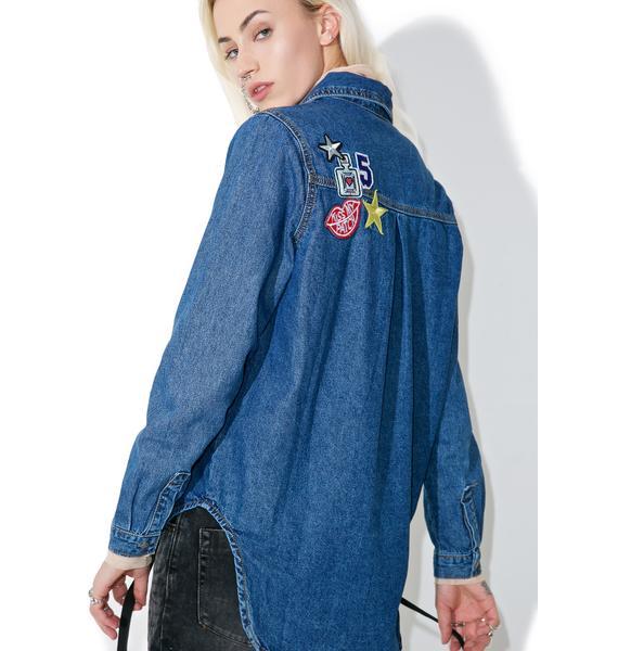 Glamorous Miss Patched Denim Shirt
