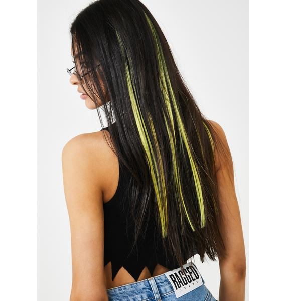 Shrine Yellow Ombre Hair Extensions
