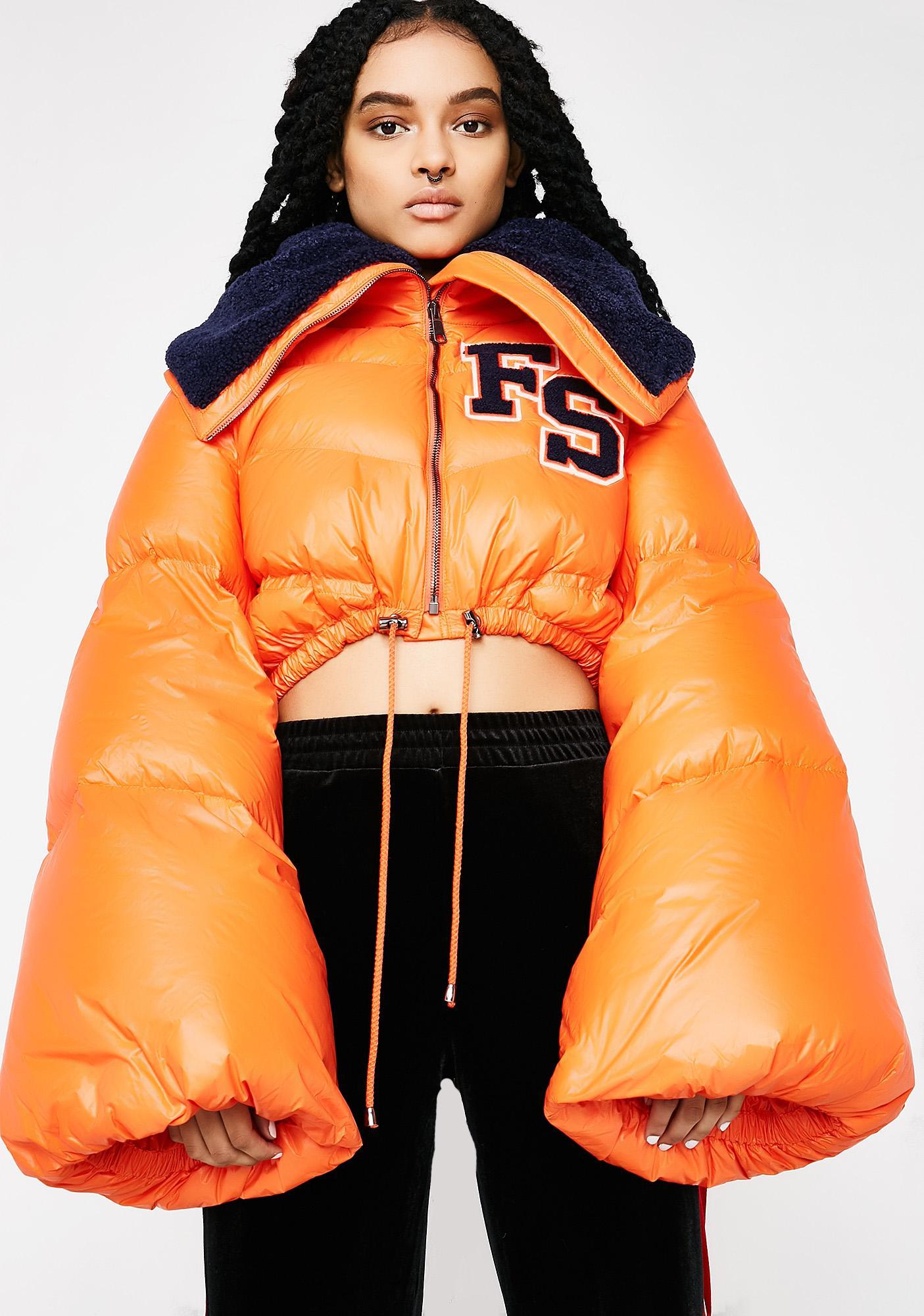 PUMA Flame FENTY PUMA By Rihanna Funnel Collar Quilted Jacket