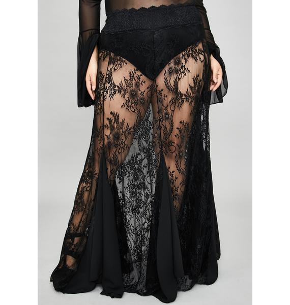 Widow I'm Shrouded In Mystery Lace Skirt