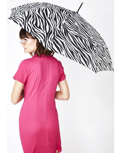 Wild World Zebra Umbrella