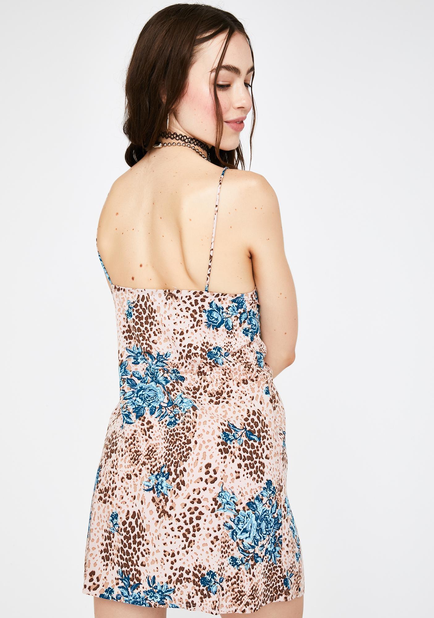 Motel Jungle Flower Datista Mini Dress