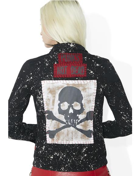Bleach And Patch Trucker Jacket