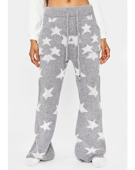 Star Connection Fuzzy Lounge Pants