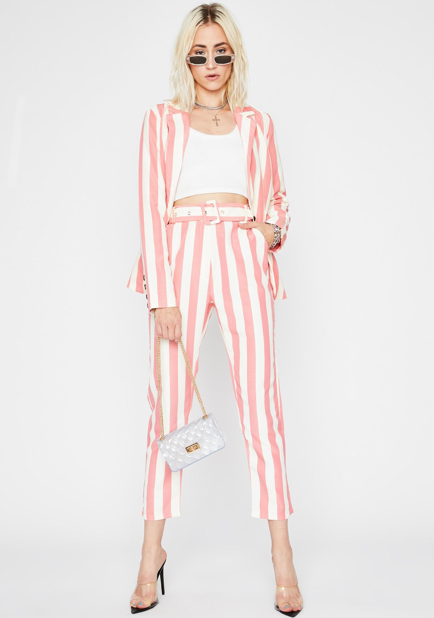 In Your Business Striped Trousers
