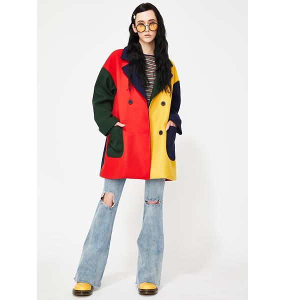 Lazy Oaf Grow Your Own Colorblock Coat