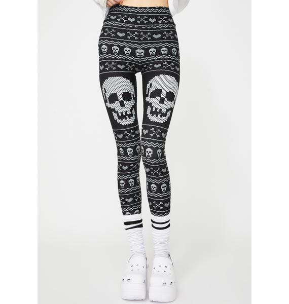 Too Fast Skull And Bones Christmas Sweater Leggings