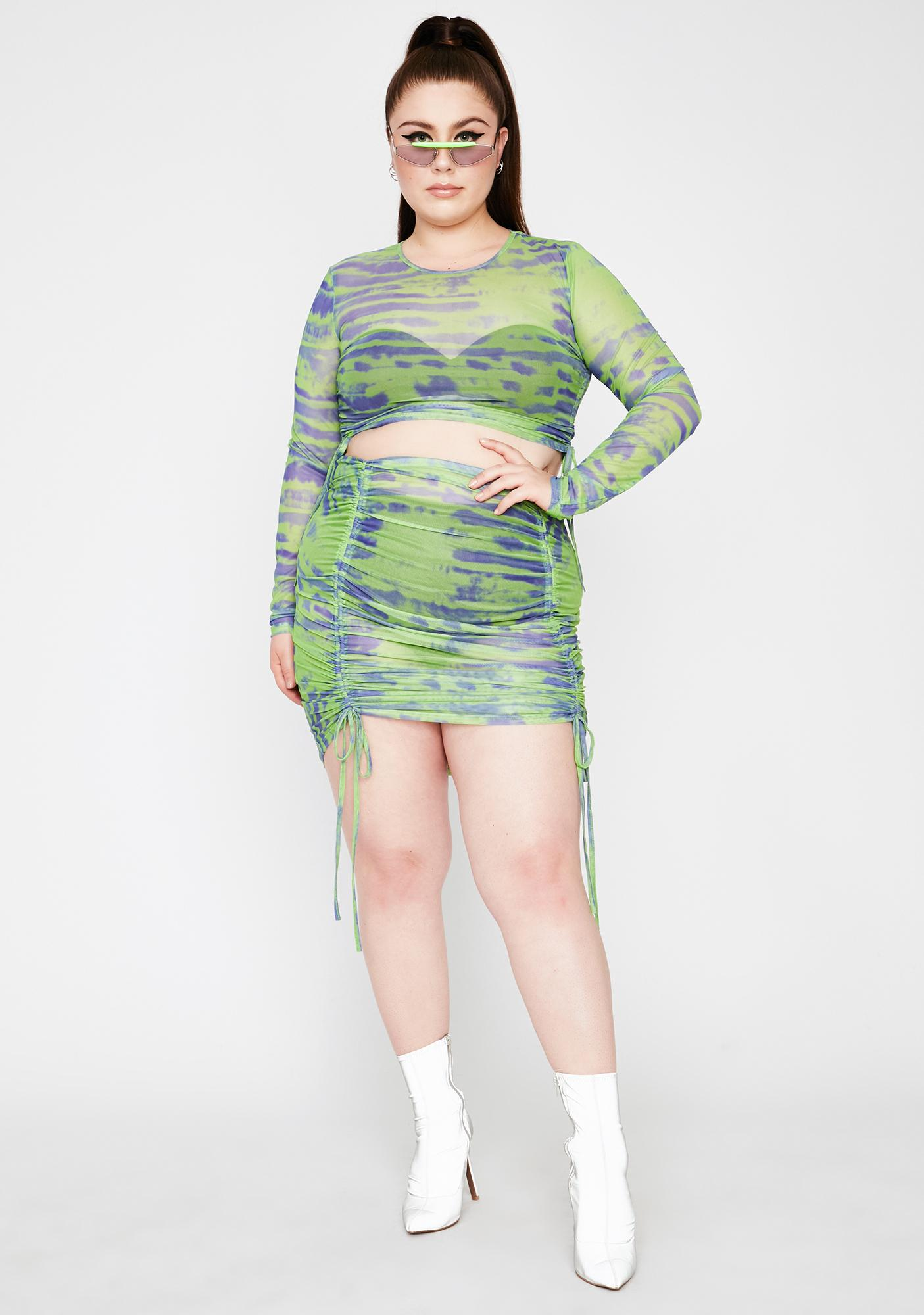 Lime Total Tough Competition Mesh Skirt