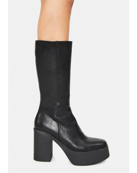 Slick Nicks Knee High Boots