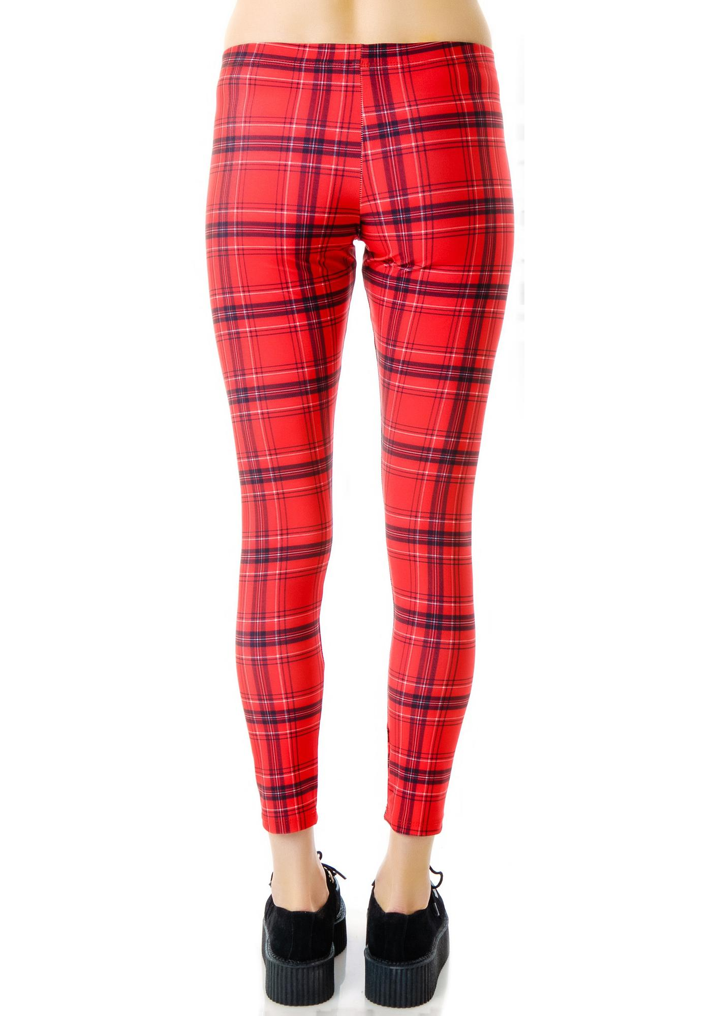 Zara Terez Red Plaid Leggings