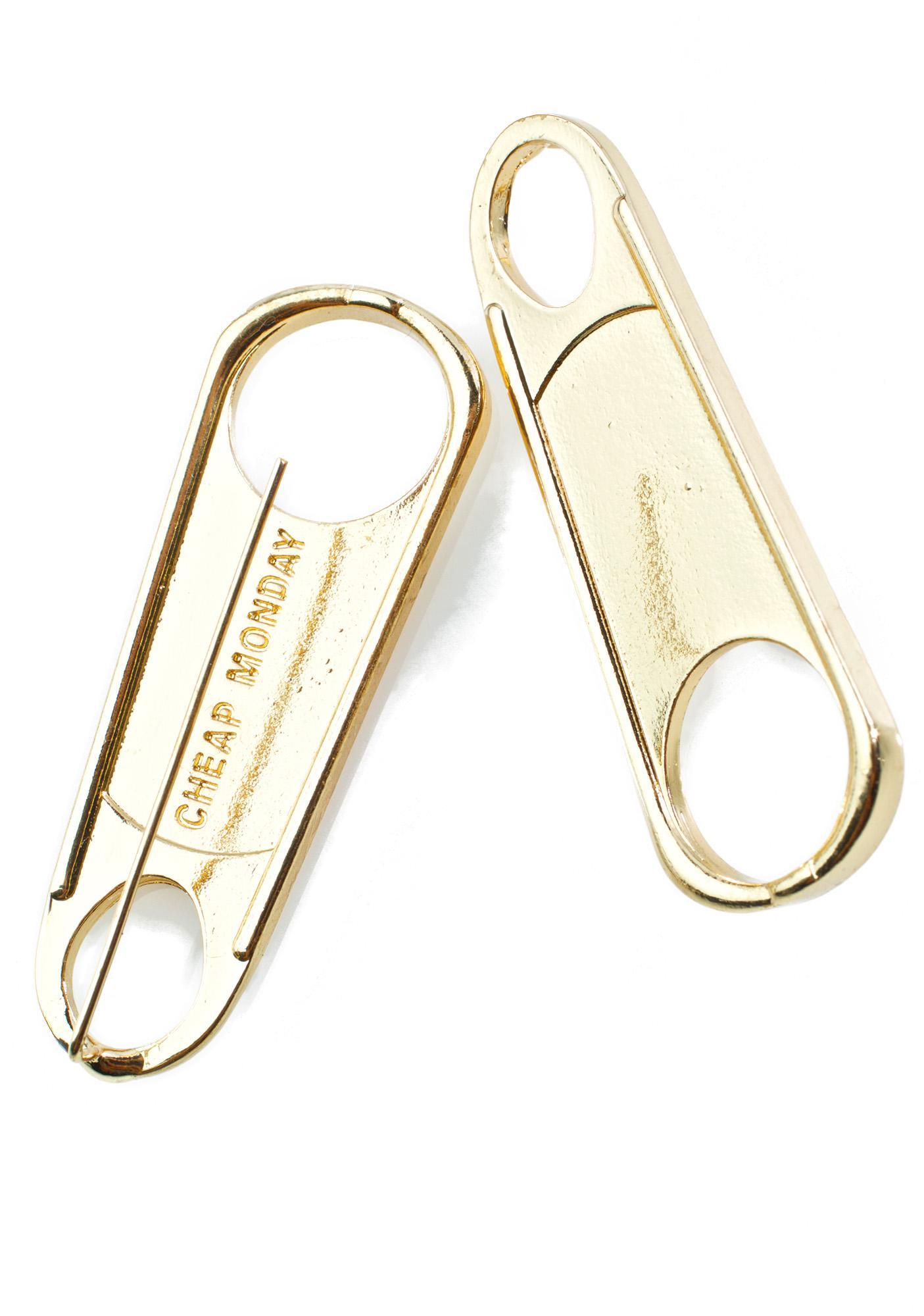 Cheap Monday Zipper Earrings
