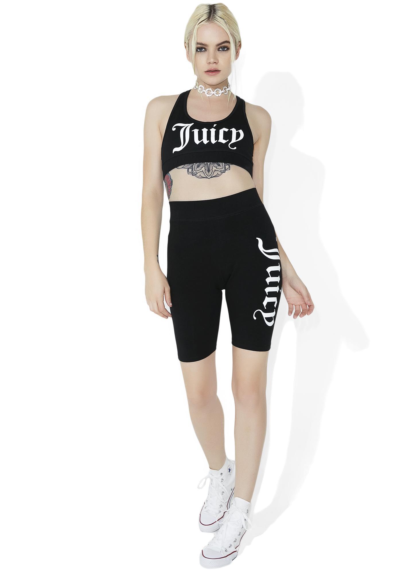 JUICY COUTURE Graphic Biker Shorts
