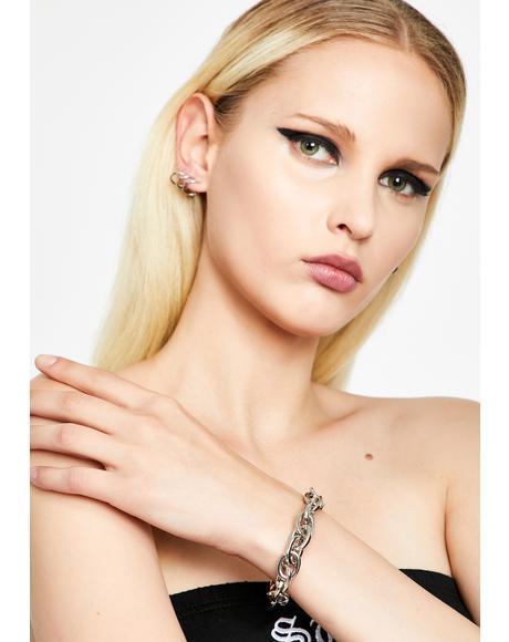 Metal Heart Chain Bracelet