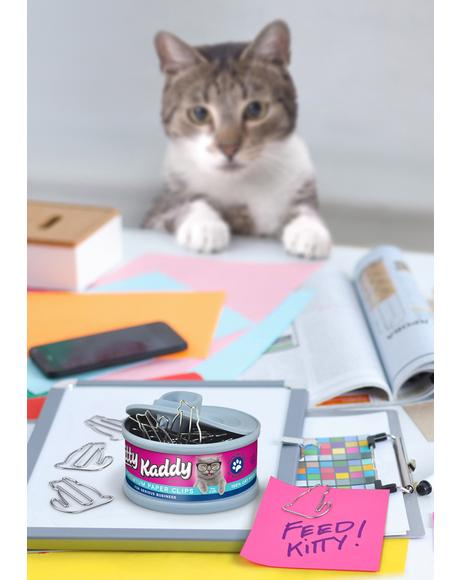 Kitty Kaddy Paper Clip Tin