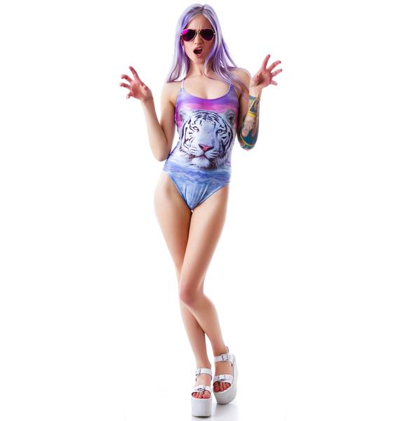 Wildfox Couture Tiger Island Wrecked One Piece