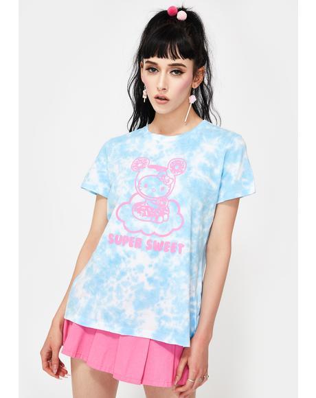 X Hello Kitty Cloudy Donut Tie Dye Graphic Tee