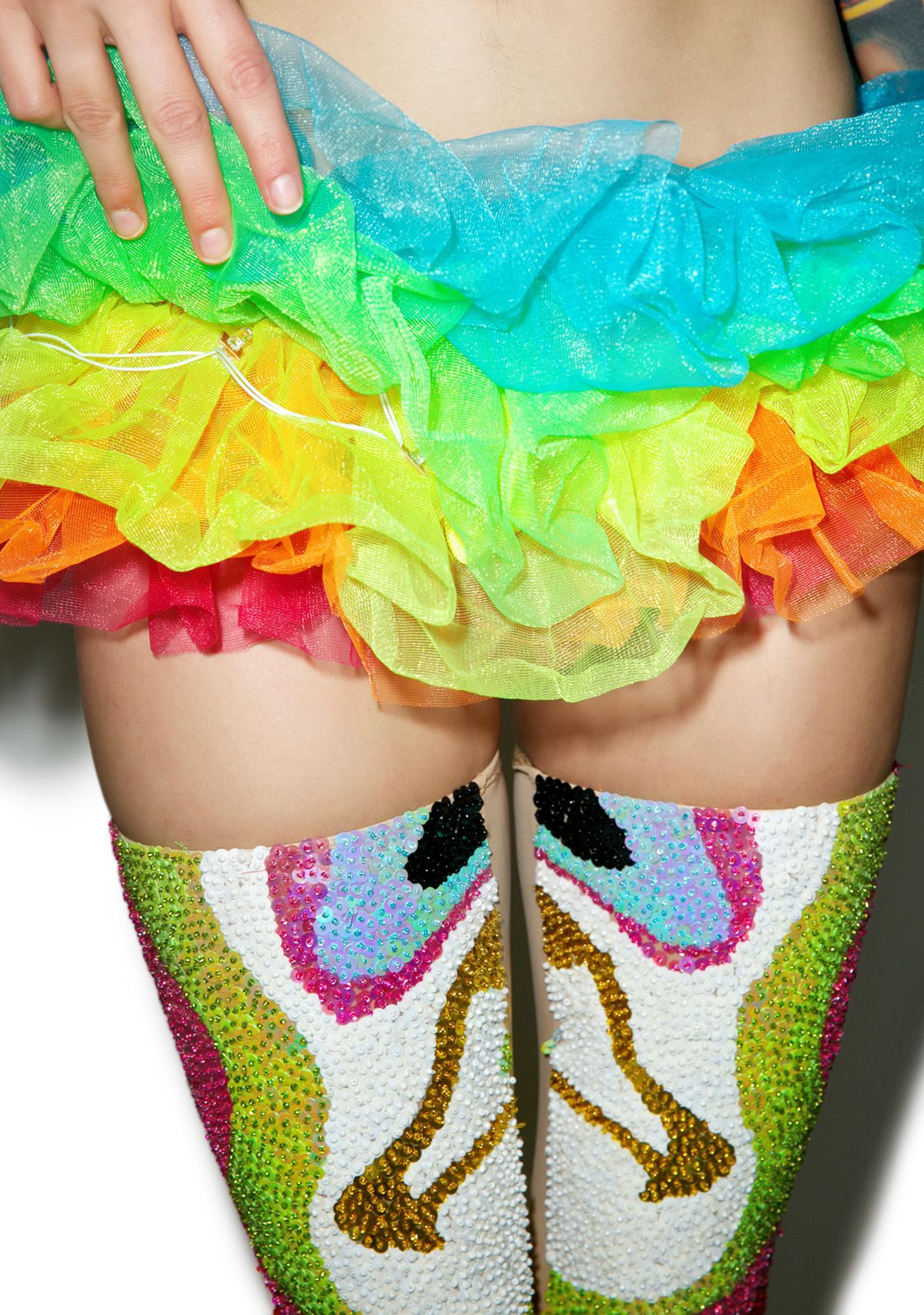 Neon Rainbow Light-Up Tutu