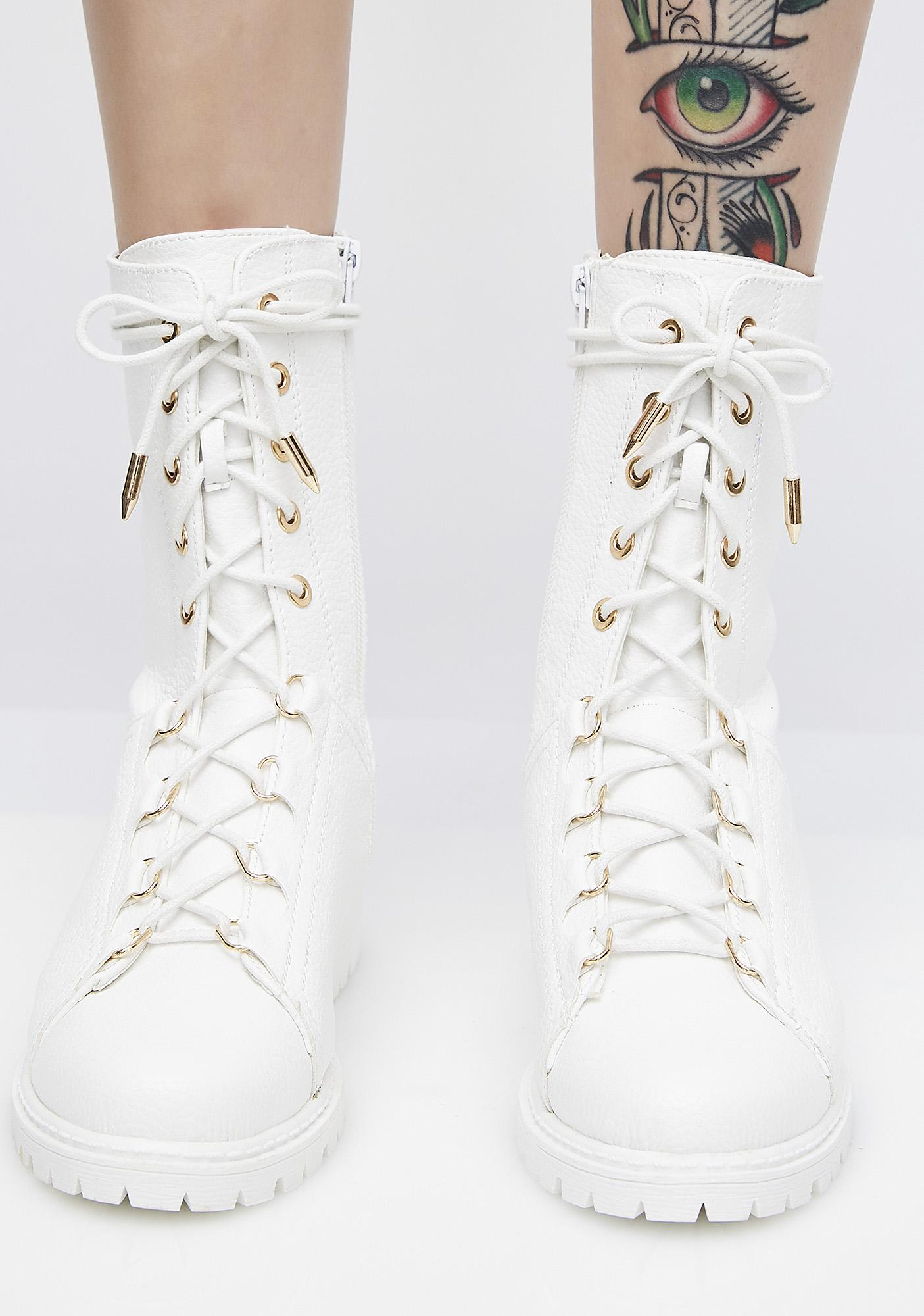 You're In Charge Combat Boots