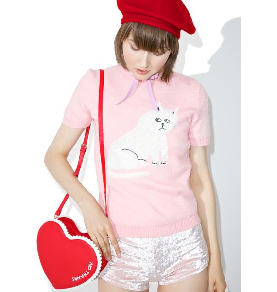 Lazy Oaf Furry Kitty Knit Top
