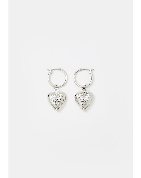 Stubborn Heart Drop Earrings