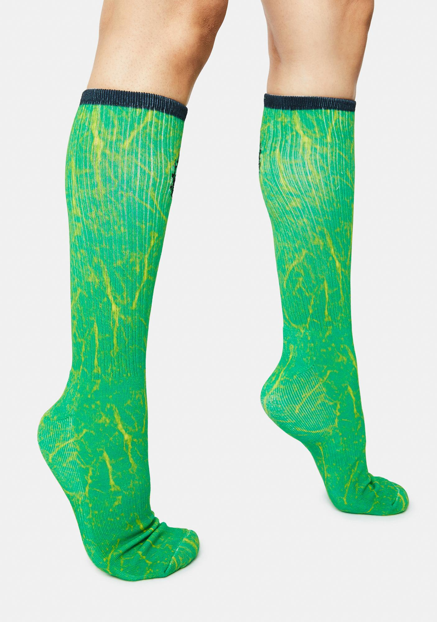 Creature Skateboards Green Corpse Socks