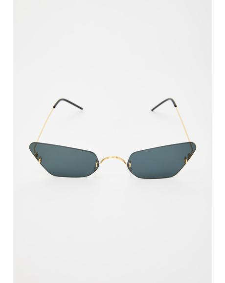 Peepin' Secrets Cat Eye Sunglasses