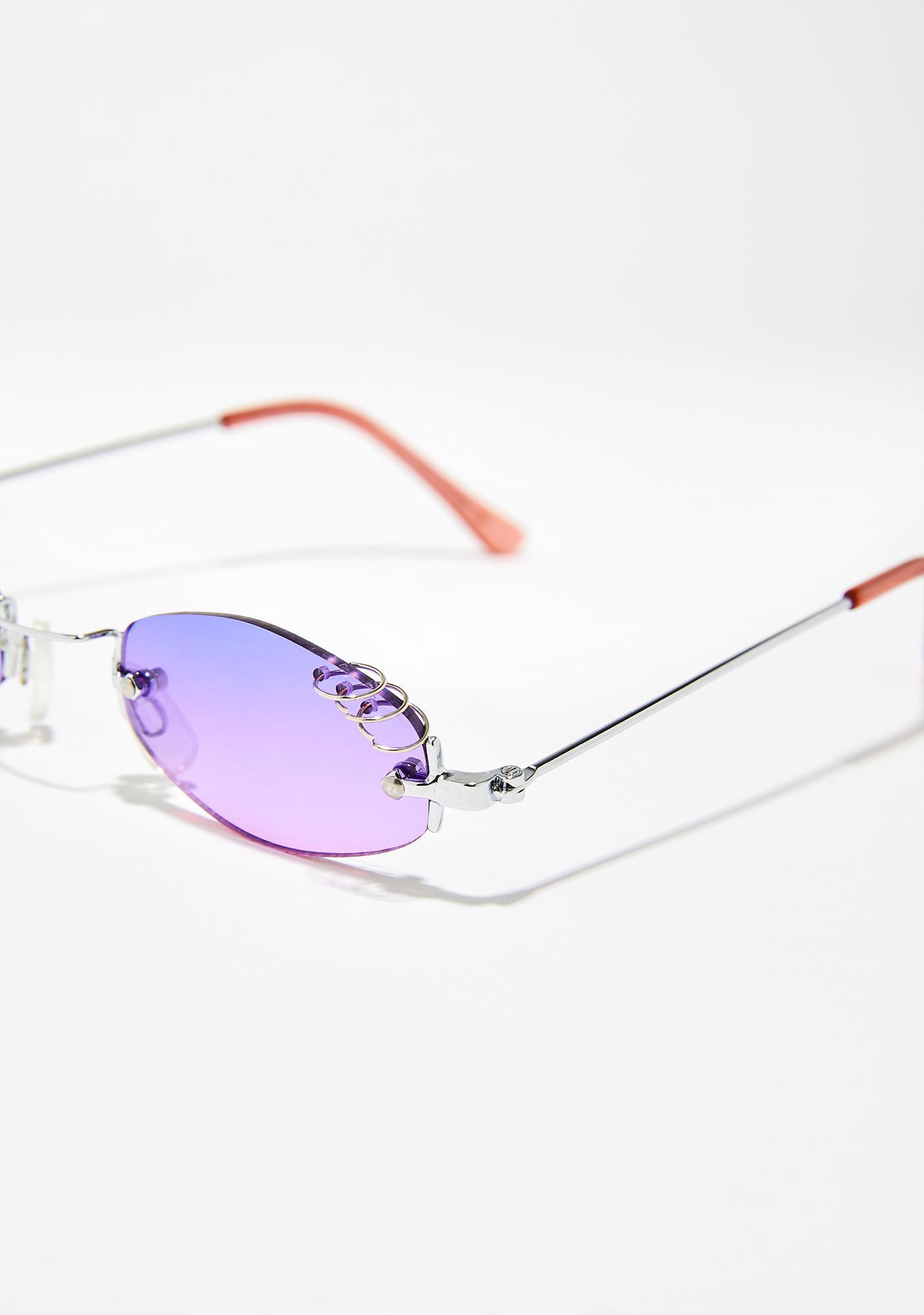 Lilac Clout Queen Pierced Sunglasses
