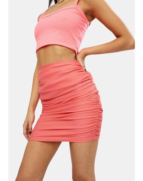 Blush Talk Of The Town Mini Skirt