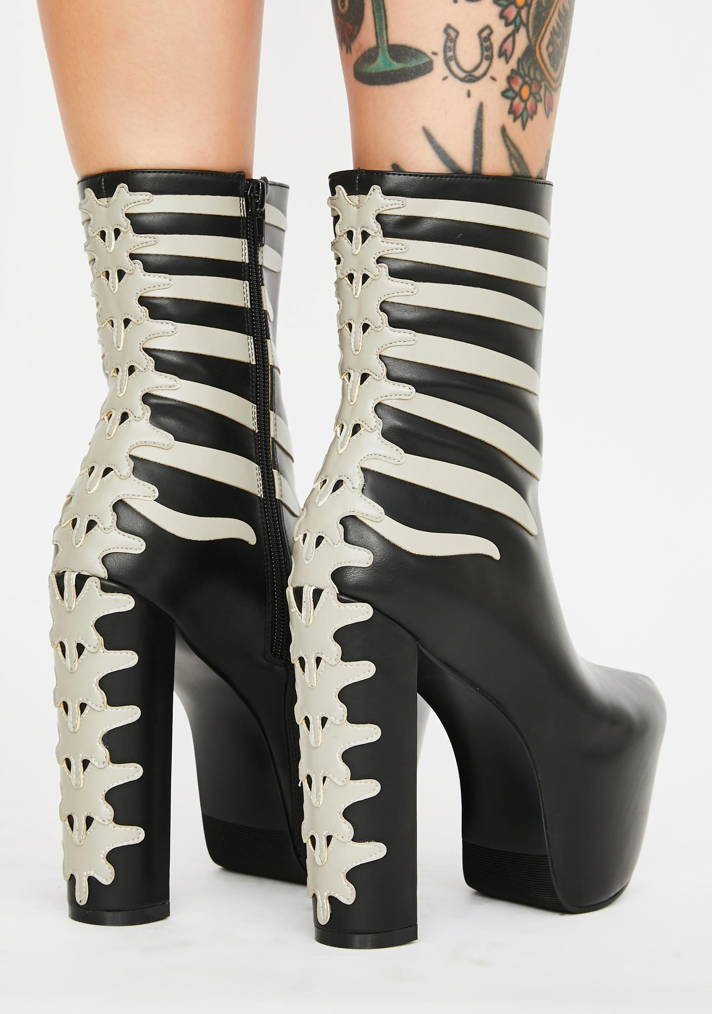 Dolls Kill Bone Crusher Platform Boots