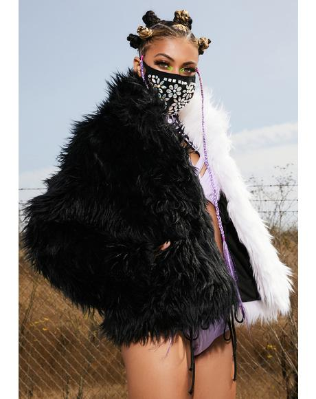 Balancing Act Faux Fur Jacket
