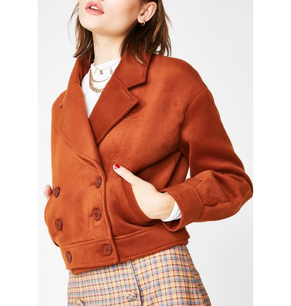 Nonchalant Double-Breasted Jacket