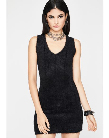 Feel Me Up Fuzzy Dress