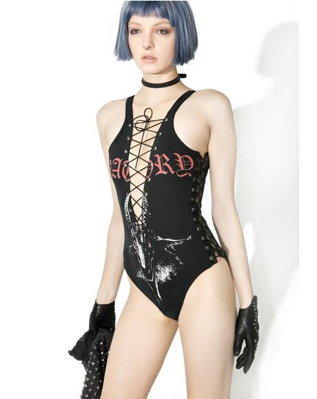 Vintage Deadstock Metal I Am The Law Bodysuit