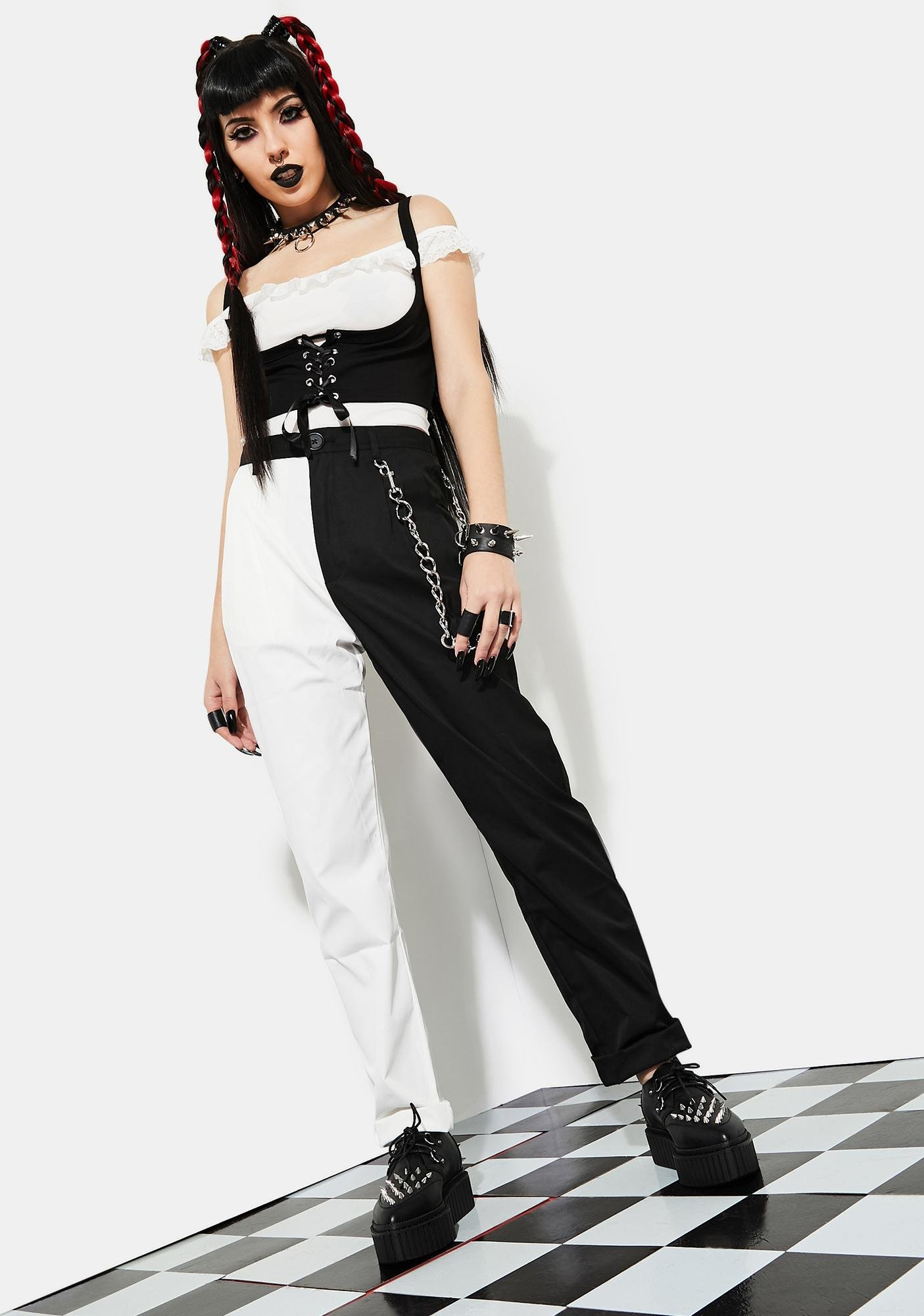Current Mood Love Riot Color Block Trousers