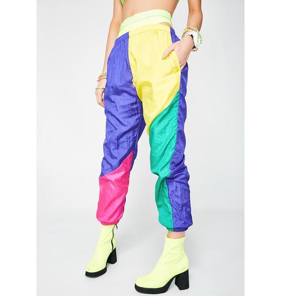 6c232b6fe55a Vintage 80s Neon Colorblock Pants ...