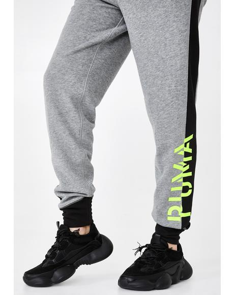 Grey Heather Logo Sweatpants